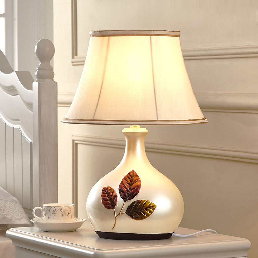 Tischlampe Schlafzimmer Nachttischlampe, Wohnzimmer Leselampen, Moderne Einfache Einfache Einfache Harz Lichter (Farbe   Knopfschalter) B06XXSTKMF | Ermäßigung  597928