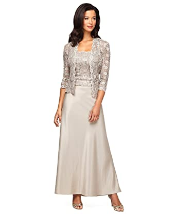 Plus Size Alex Evenings 412211 Champagne Dress At Amazon Womens