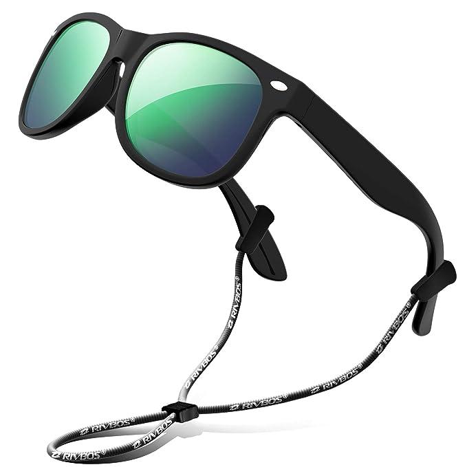 3a33371ca7 RIVBOS RBK004 - Gafas de Sol polarizadas de Goma para niños y niñas (3-