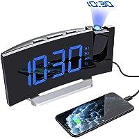 Mpow Despertadores Digitales de Proyector, Radio Despertador, Alarma