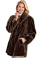 AmeriMark Shawl Collar Faux Fur Coat