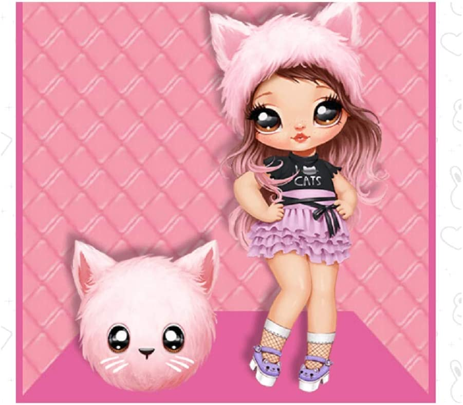 Series 2 Na Na Na Surprise KATHERINE WHISKERS 2 IN 1 Fashion Doll Pom Purse NEW