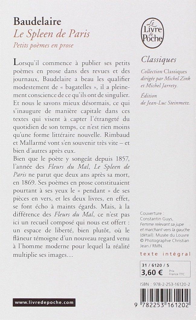 Le Spleen De Paris Petits Poèmes En Prose Classiques De