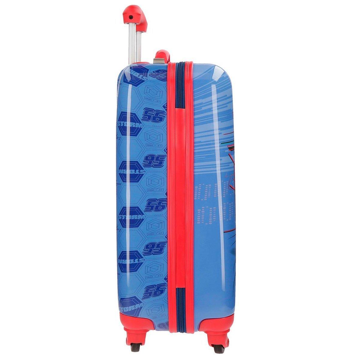 Valise cabine rigide 55cm Gar/çon CARS ULTRA SPEED Rouge et Bleu