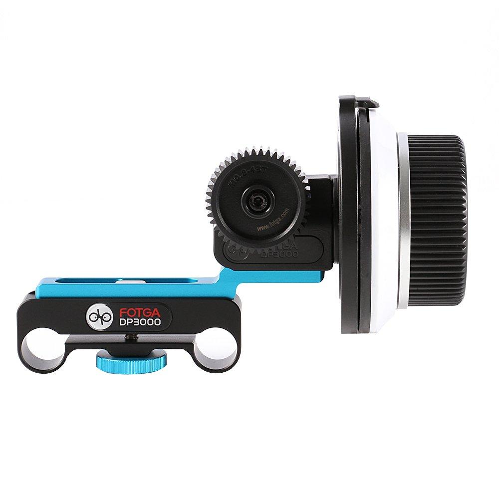 Fotga DP3000/DSLR follow focus FF para 15/mm Varilla Rig 6d 60d 600d 5d2/5D3/GH2/D7000/Nikon Canon Sony DSLR C/ámaras