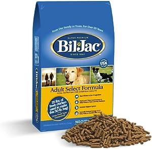 Bil-Jac Dry Dog Food Adult Select Formula Small or Large Breed 30 lb Bag - Super Premium Since 1947