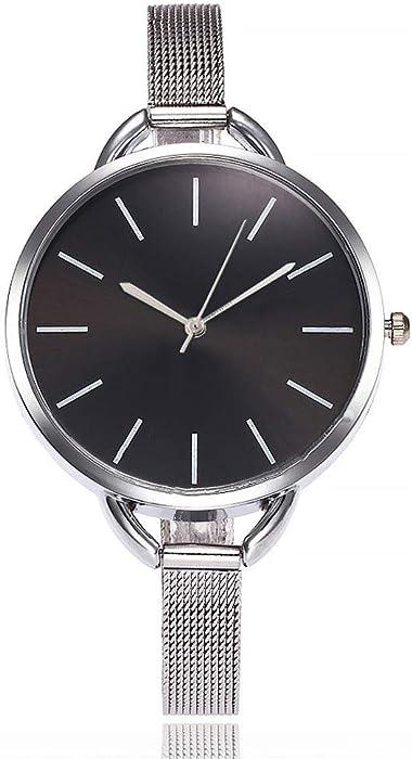 Yusealia Relojes Pulsera Mujer Despeje, Casual Reloj Banda de Acero Inoxidable Parejas Relojes para Negocio Relijes de Espejo de Vidrio de Alta Dureza