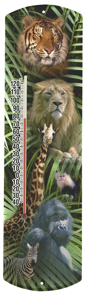 Heritage America by MORCO 375ZOO Zoo Animals Outdoor or Indoor Thermometer, 20-Inch