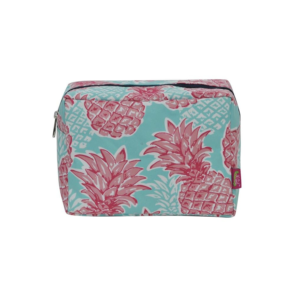 NGIL Large Travel Cosmetic Pouch Bag Spring 2018 Collection (Southern Summer Pineapple Navy)