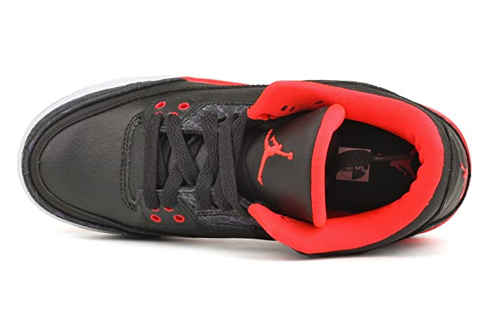 eaded5451ee Amazon.com | Jordan Nike Air 3 Retro (GS) Boys Basketball Shoes 398614-005  Black 4 M US | Basketball