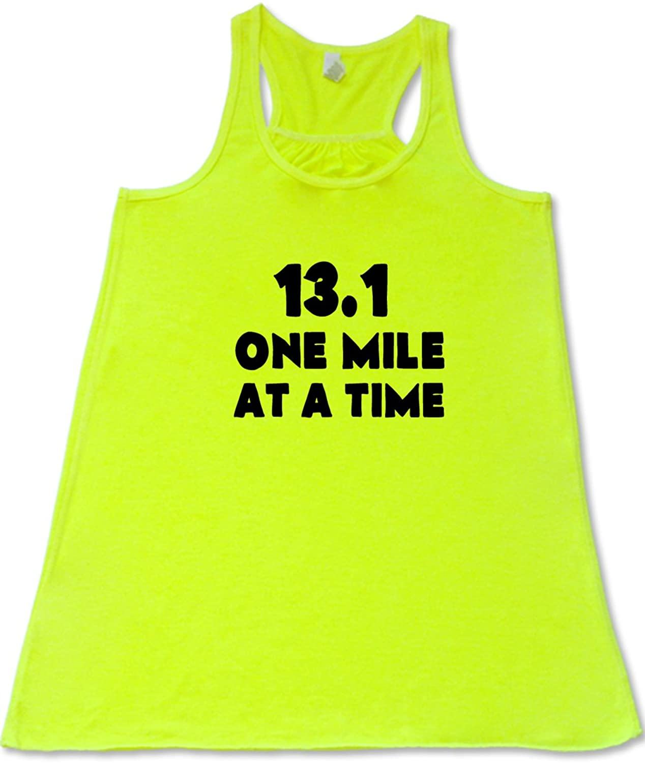 Women's 13.1 One Mile At A Time Tank Top - Workout Shirt