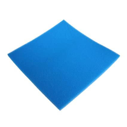Dabixx Acuario Bioquímico Algodón Filtro Esponja Pecera Tanque Esponja, esponja, azul, 50x50x2 cm