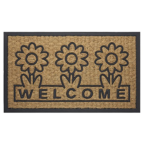 Achim Home Furnishings COM1830DS6 Daisy Coco Door Mat, 18 by 30