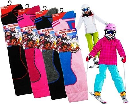 Niños térmica Calcetines de esquí de Alto Rendimiento con Adicional amortiguación 12 – 3 3 Pack, Boys, UK Kids Shoe Size 12-3: Amazon.es: Hogar