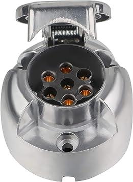 Spurtar Metall Steckdose Für Anhängerkupplung 12 V 7 Polig 7 Polig Für Wohnwagen Auto