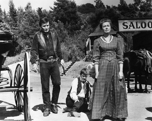 James Drury and Susan Oliver and Peter Brown and Virginia Christine in The Virginian A Small Taste of Justice episode 16x20 Poster
