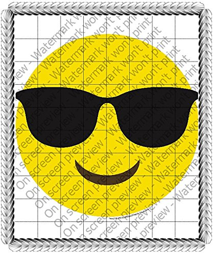 Sunglasses Emoji Cool Frosting Sheet