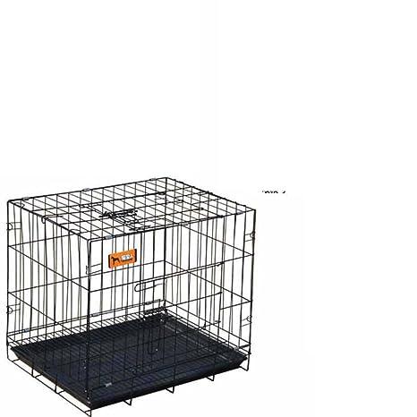 SL&ZX Jaula del Perro de Metal Cuadrado,Plegable Perro Cajón Grande Mascota Jaula Multi Tama