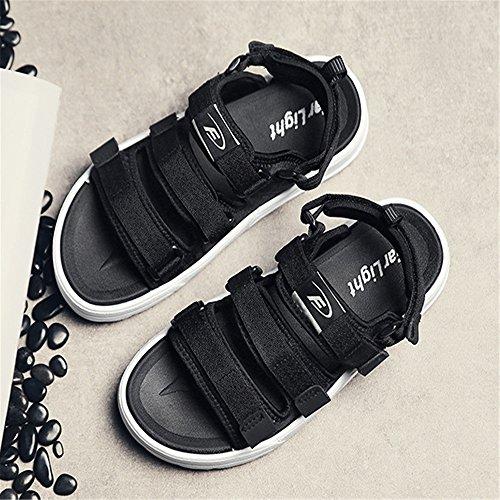Sport pantofole Uomo Magici Aperta Pelle Scarpe spiaggia Sandali 1 Wagsiyi Dimensione Da 3 All'aria Colore Sandali EU Nero 43 da Nero Di In tfwxxA0qd