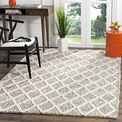 Safavieh Natura Collection NAT711A Ivory and Stone Area Rug, 6 x 9