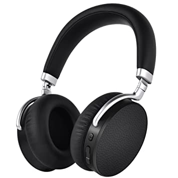 Inalámbrico Bluetooth 4.2 Auriculares / auriculares plegables con micrófono, APTX Baja latencia E7 Active Cancelación de Ruido Auriculares Micrófono Hi-Fi ...