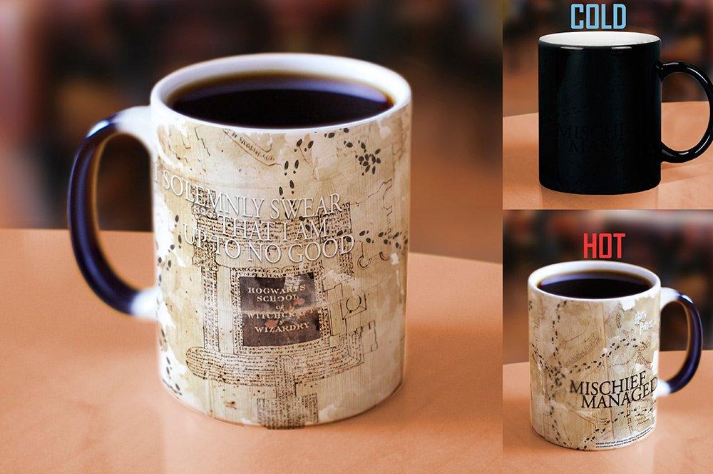 Morphing Mugs Harry Potter Hogwarts Marauders Map Heat Reveal Ceramic Coffee Mug - 11 Ounces by Morphing Mugs (Image #2)