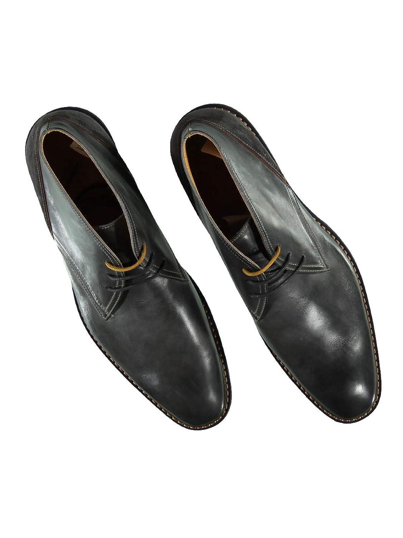 Engbers Herren Mid-Cut Stiefel 23963, mit Kontrastdetails, 23963, Stiefel Grau 93615b