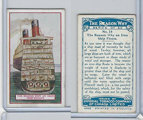 C32 Imperial Tobacco, The Reason Why, 1924, 14 Iron Ship -