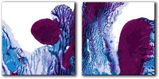 Abstract Ink Splash SQUARE CANVAS WALL ART Picture Print