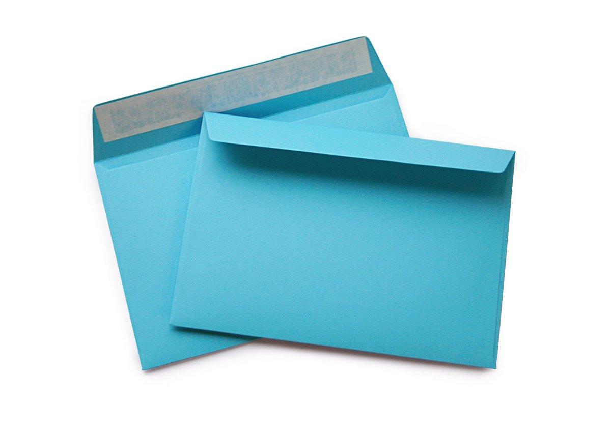gelb 100 120 g//m/² ohne Fenster haftklebend 504A hochwertige Briefumschl/äge C6 mm