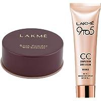 Lakme Rose Face Powder, Warm Pink, 40g & Lakmé Complexion Care Face Cream, Bronze, 9g