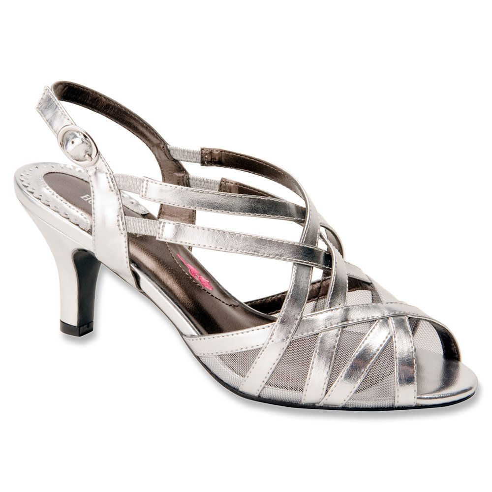Ros Hommerson Women's Lacey Sandals B00MU3RBU2 9.5 B(M) US|Silver