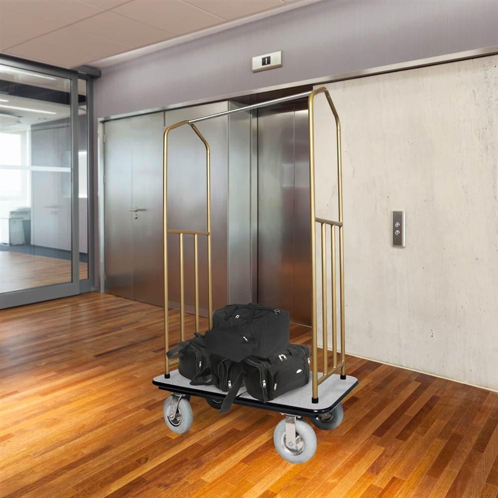 Brasstone Bellman's Cart with Gray Deck by Evania Luigi Brigitte