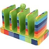 Rainbow Striped Ceramic Toast Rack
