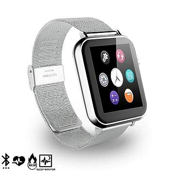 DAM. DMR088SLVSTEEL. Smartwatch A9 para iOS Y Android con Podómetro, Monitor Cardíaco Y Notificaciones para iOS. Bluetooth 4.0.