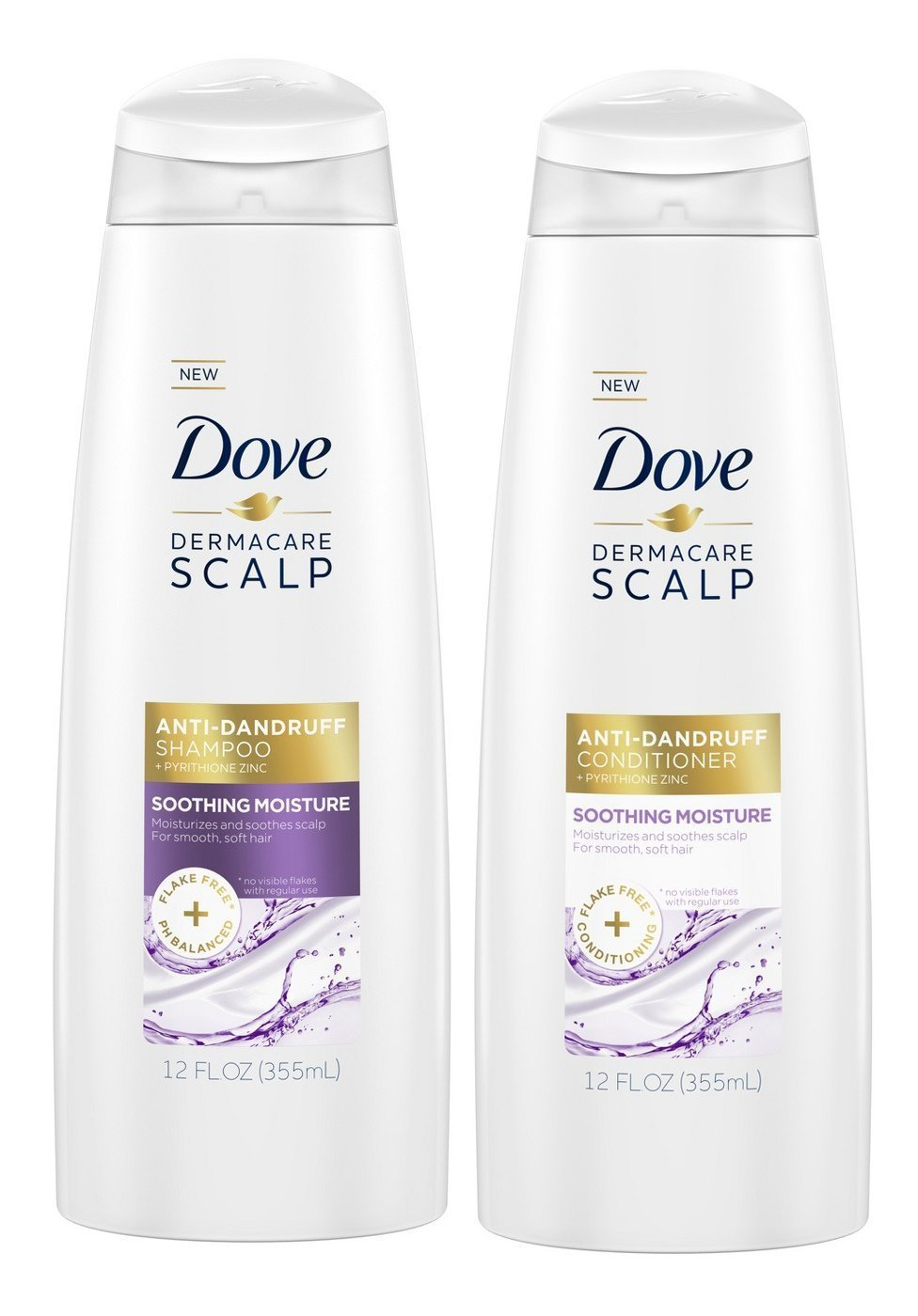 Dove Dermacare Soothing Moisture Shampoo & Conditioner Set, 12 Oz Each