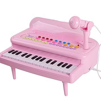 DUWEN Teclado para Niños con micrófono Chica Instrumentos para Niños Pequeños: Amazon.es: Juguetes y juegos