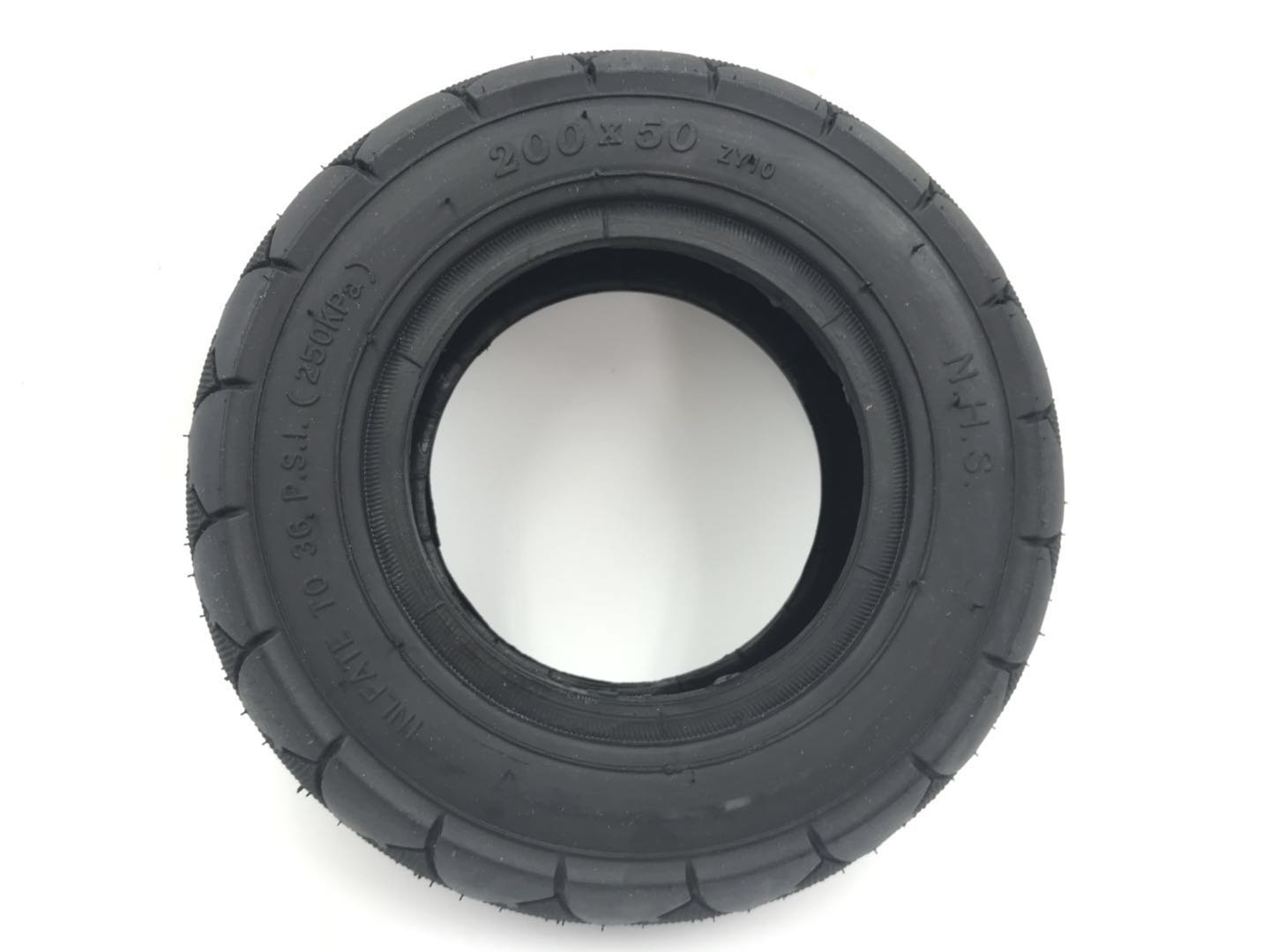 Y&F 200x50 Tire for Gas Scooter, Go Kart, Pocket Bike, Wheel Chair