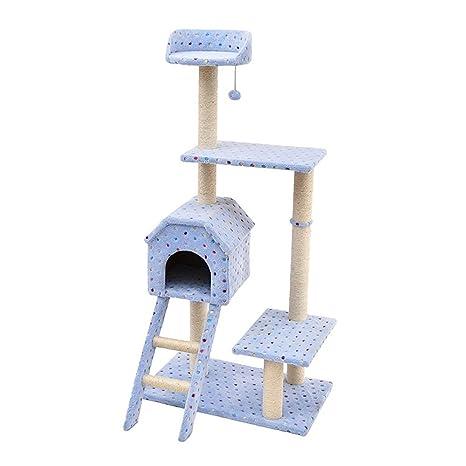 YGJT Árbol Rascador de actvidades Escalador para Gato Color Azul