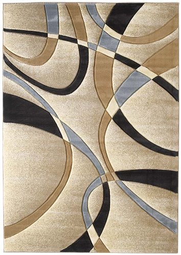 United Weavers Wood Rug - United Weavers of America Contours Collection La Chic Area Rug, 2'7