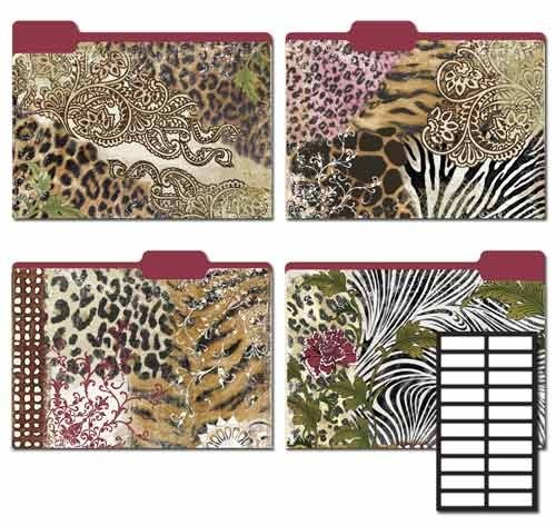 Price comparison product image Karen Foster Design Decorative File Folders Modern Safari,  8 Folders