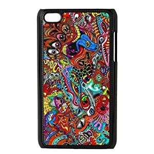 Danny Store Protective Hard PC Cover Case for iPod Touch 4, 4G (4th Generation), Trippy wangjiang maoyi