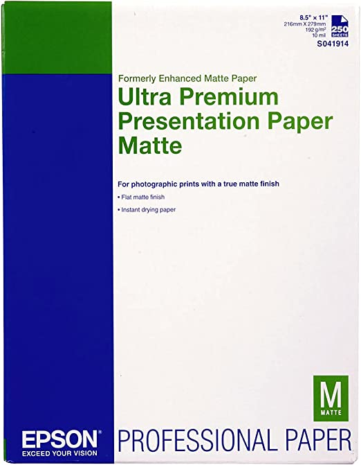 """Ultra Premium Enhanced Matte Paper with Adhesive 8.5/"""" x 11/"""" 50 Sheets"""