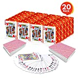 Gamie Mini Playing Cards (Pack of 20 Decks) | Poker Cards | Miniature 1.5' Card Set | Small Casino Game Cards for Kids, and Adults| Great Novelty Gift/Party Favor for Boys and Girls/Decoration Idea