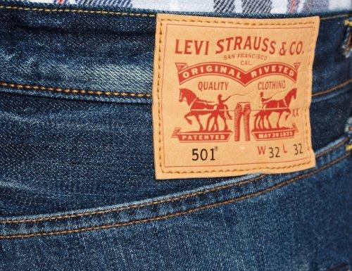 Fit Blu Original 501 Levi's Jeans basic Uomo 1618 Blues qXwEx14x5