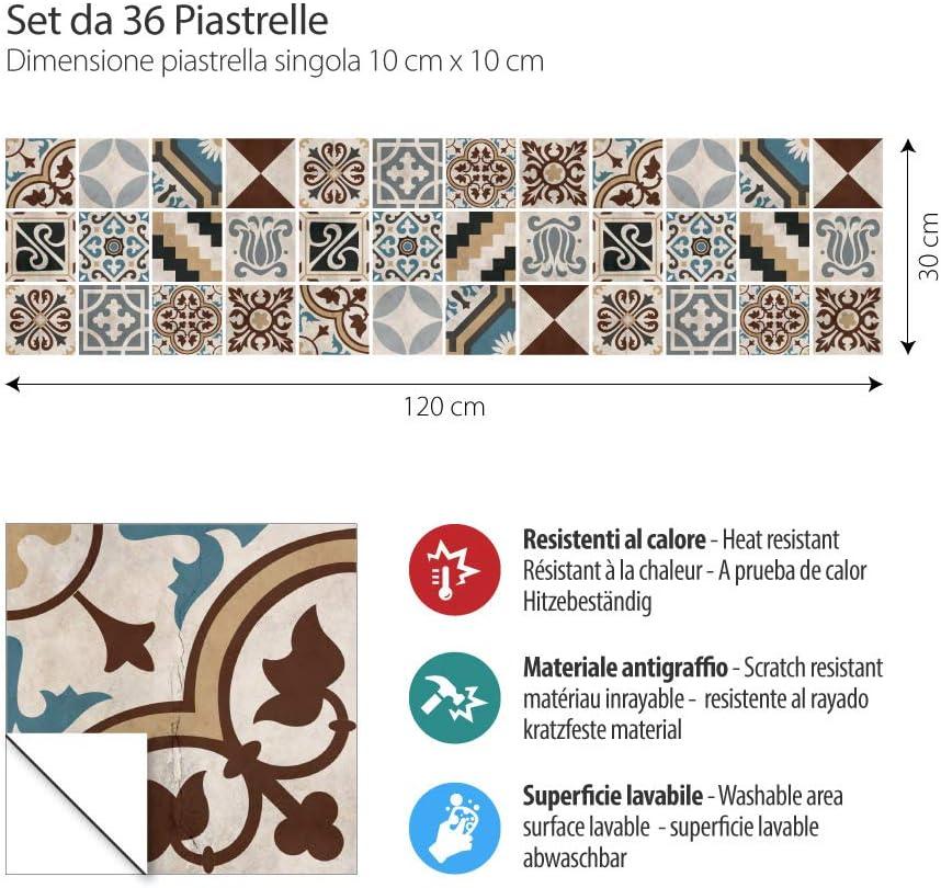 kina PS00203 San Juan Stickers en PVC pour carrelage pour Salle de Bain et Cuisine