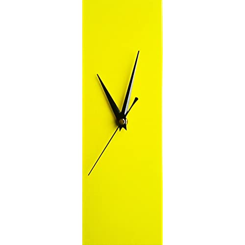Contemporary-Slim-Yellow-Wall-Clock