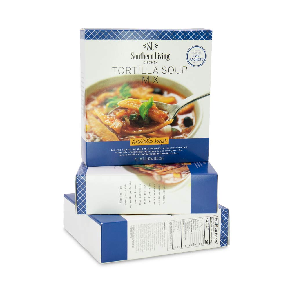 Gourmet Tortilla Soup Mix - from Southern Living, Dry Soup Mix, Easy Recipe for Tortilla Soup & Shredded Tortilla Chicken (Pack of 6)