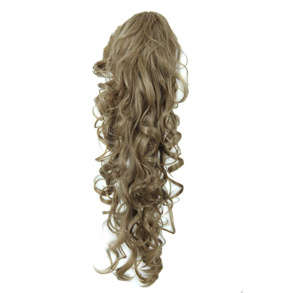 Long Clip-in Curly Claw Jaw Ponytail Clip In Hair Extensions Wavy Hairpiece