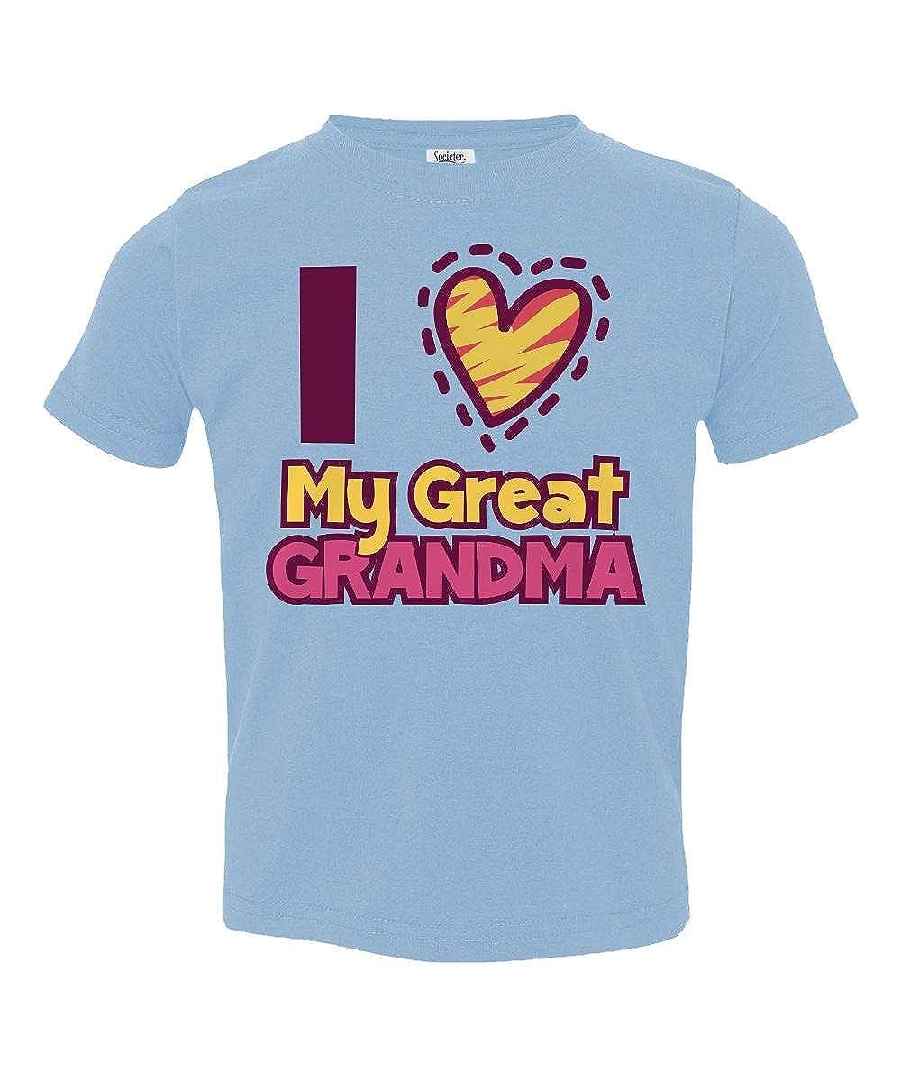 Societee I Love My Great Grandma Little Kids Girls Boys Toddler T-Shirt